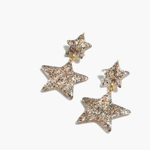 Madewell Glitter Star Earrings